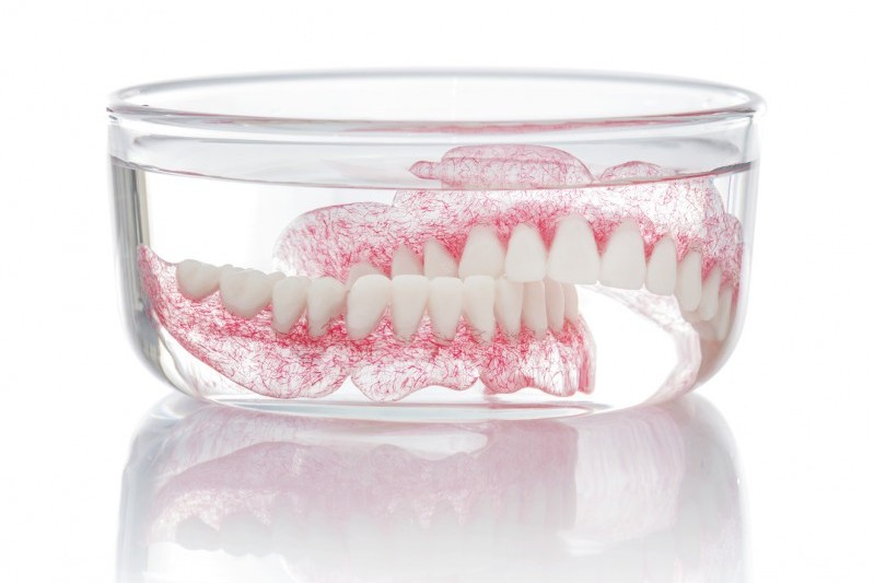 Soak your dentures to keep your mouth clean and healthy