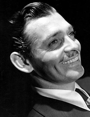 Black and white image of Clark Gable