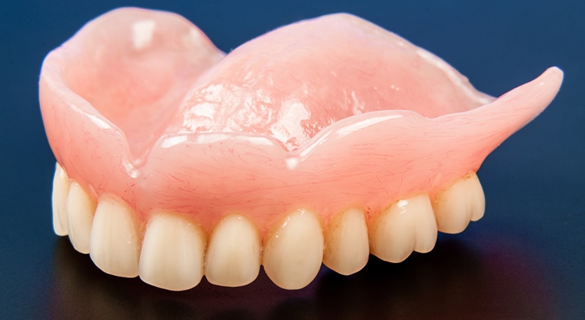 denture in close up