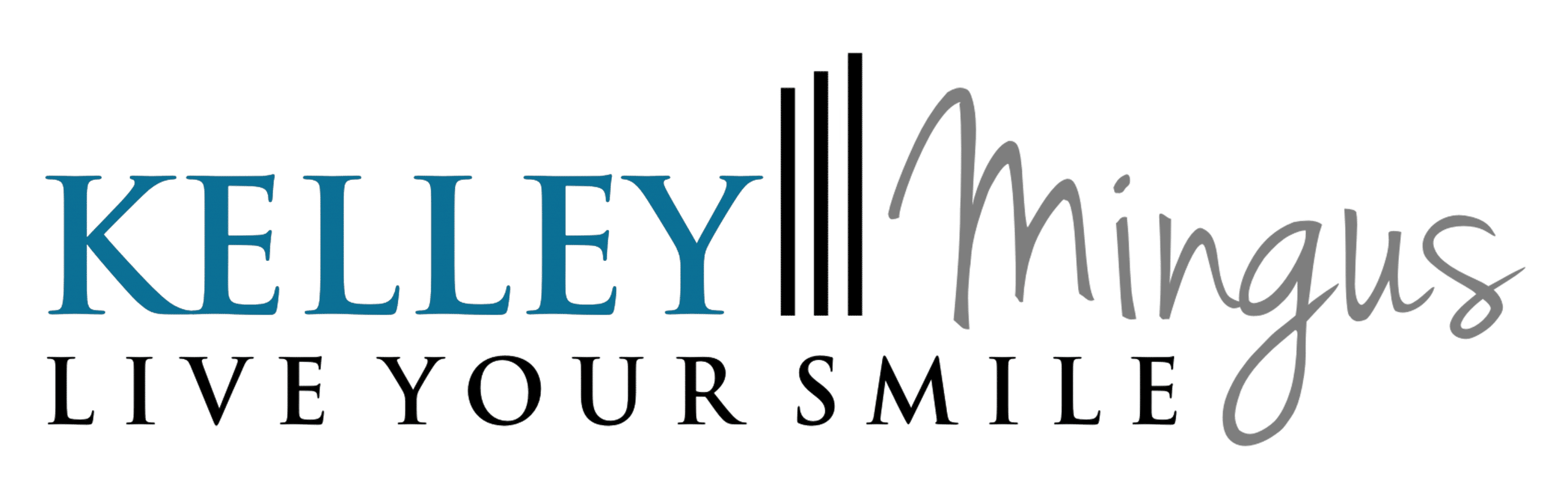 DISTINCTIVE DENTISTRY, Kelley Mingus, Live your smile logo