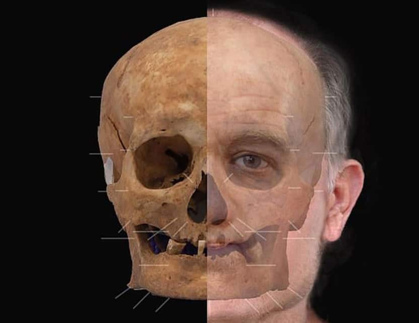A reconstructed face of a Medieval Scotsman, based on a 600-year-old skull. If you are looking for dentures that really rebuild your smile and your appearance look at FOY ® Dentures.