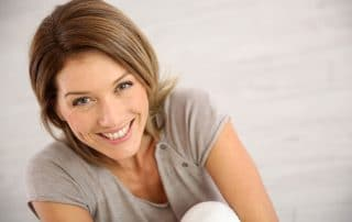 mature woman showing off her smile